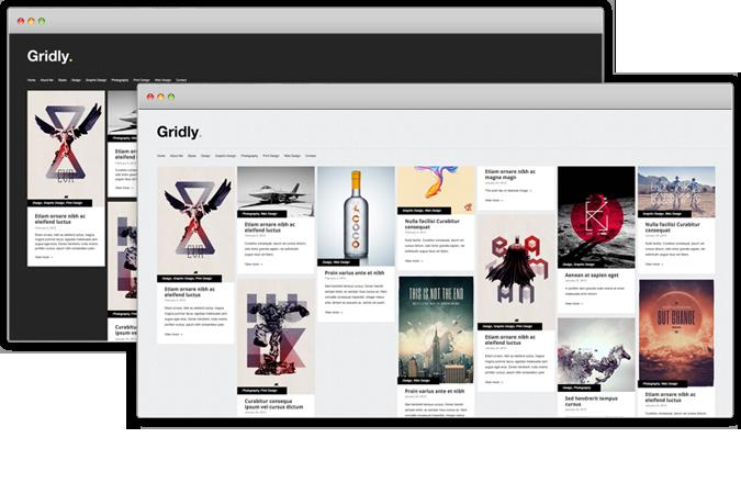Free Gridly Folio WordPress Theme